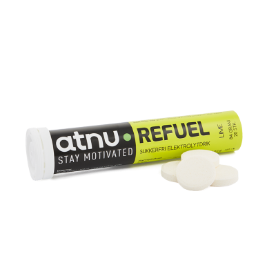 Atnu Refuel Elektrolyt Tabs Lime 20 stk