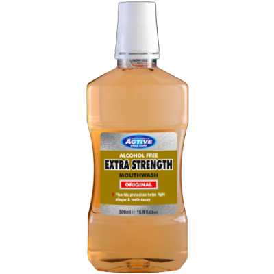 Active Oral Care Alcohol Free Extra Strength Mouthwash 500 ml