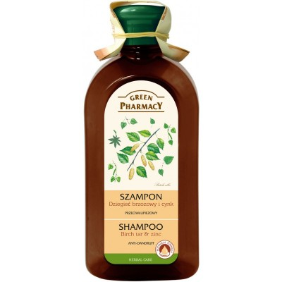 Green Pharmacy Birch Tar & Zinc Shampoo Anti-Dandruff 350 ml