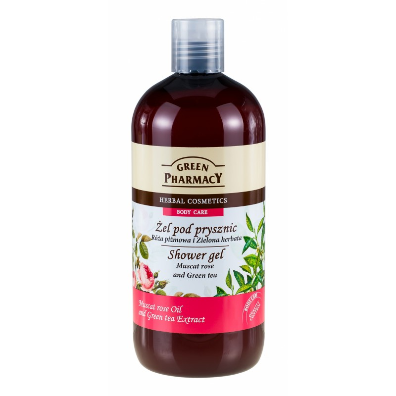 green pharmacy muscat rose green tea shower gel 500 ml kr. Black Bedroom Furniture Sets. Home Design Ideas