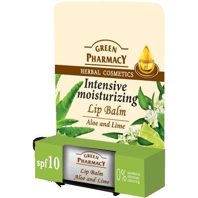 Green Pharmacy Intensive Moisturizing Aloe & Lime Lip Balm 4,8 g
