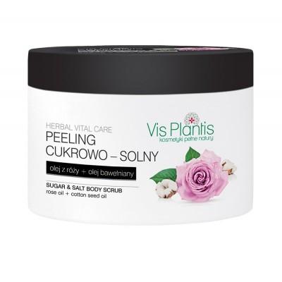Vis Plantis Herbal Vital Care Rose Body Scrub 200 ml