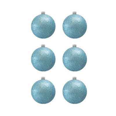 BasicsHome Christmas Ball Ornaments Metallic Light Blue 8 cm 6 pcs