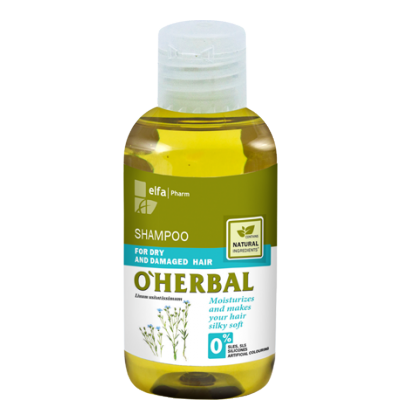 O'Herbal Dry & Damaged Hair Flax Extract Shampoo 75 ml