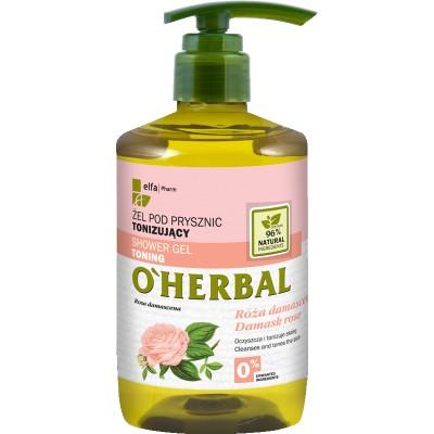 O'Herbal Toning Shower Gel Damask Rose Extract 750 ml
