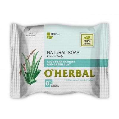 O'Herbal Aloe Vera & Green Clay Soap 100 g