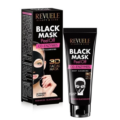 Revuele Black Mask Peel Off Co-Enzymes 80 ml