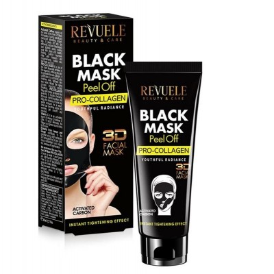 Revuele Black Mask Peel Off Pro-Collagen 80 ml