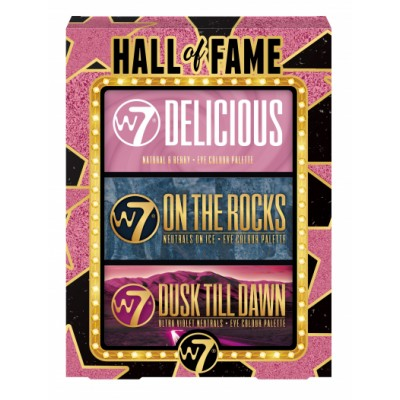 W7 Hall Of Fame Eyeshadow Palette 3 st