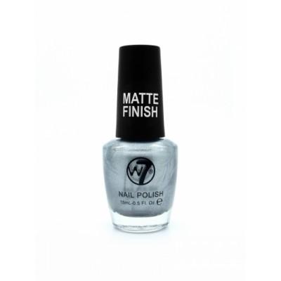 W7 Nailpolish 141 Matte Silver 15 ml