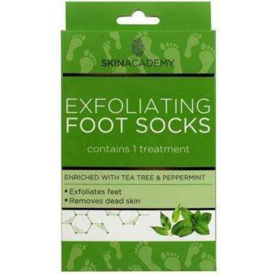 Skin Academy Exfoliating Foot Socks Tea Tree & Peppermint 1 par