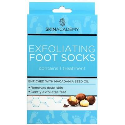 Skin Academy Exfoliating Foot Socks Macadamia Nut 1 pari