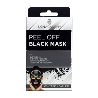 Skin Academy Peel Off Black Mask 4 x 8 ml