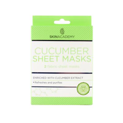 Skin Academy Cucumber Sheet Masks 2 stk