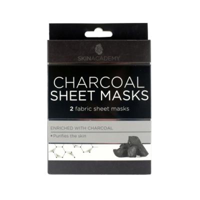 Skin Academy Charcoal Sheet Masks 2 stk