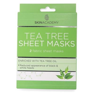 Skin Academy Tea Tree Sheet Masks 2 kpl