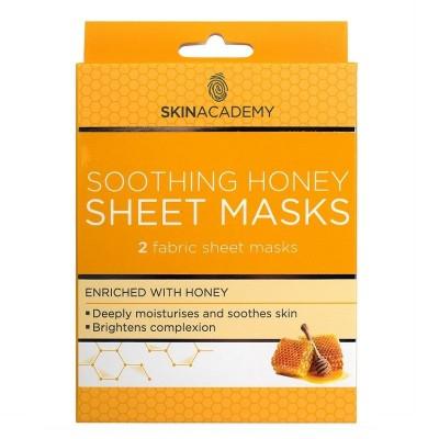 Skin Academy Soothing Honey Sheet Masks 2 st
