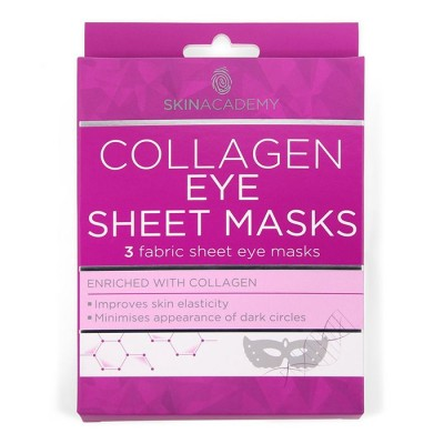 Skin Academy Collagen Eye Sheet Masks 3 kpl