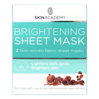 Skin Academy Brightening Sheet Mask 2 kpl