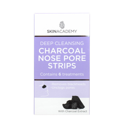 Skin Academy Deep Cleansing Charcoal Nose Pore Strips 6 stk