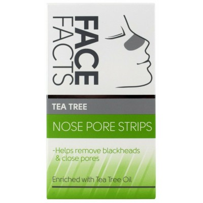 Face Facts Deep Cleansing Tea Tree Nose Pore Strips 6 kpl