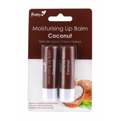 Pretty Moisturising Lip Balm Coconut 2 x 4,3 g