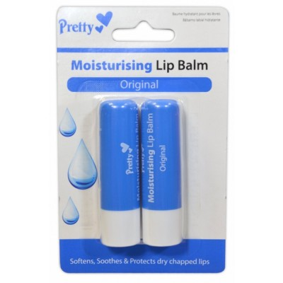 Pretty Moisturising Lip Balm Original 2 x 4,3 g