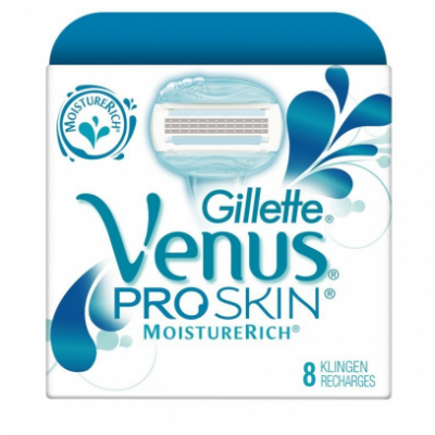 Image of   Gillette Venus Proskin MoistureRich Barberblade 8 stk