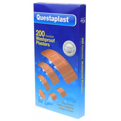 Questaplast Assorted Washproof Plasters 200 stk