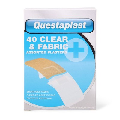 Questaplast Clear & Fabric Assorted Plasters 40 pcs