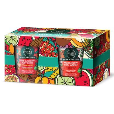 Organic Shop Body Dessert Body Scrub & Body Mousse Set 450 ml + 450 ml