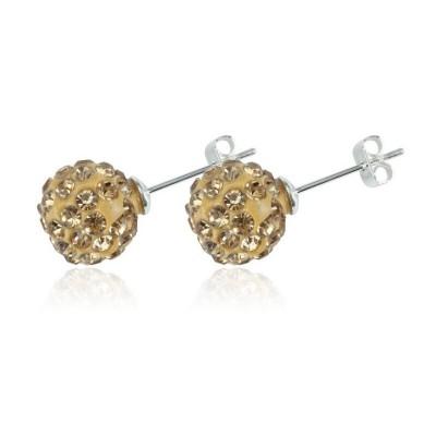 Everneed Glow Silver Finish Earrings Guld Örhängen 8 mm