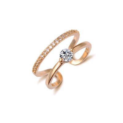 Everneed Monique Gold Zirconia Ring One Size