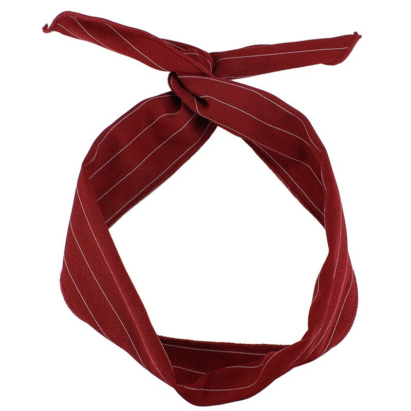 27e128107ac Everneed Karmen Hårtørklæde Rød Med Nålestriber 83 cm x 5 cm - 29.95 kr
