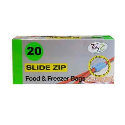 TidyZ Slide Zip Food Bags 20 stk
