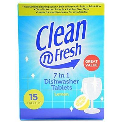 Clean n Fresh 7in1 Konetiskitabletti Sitruuna 15 kpl