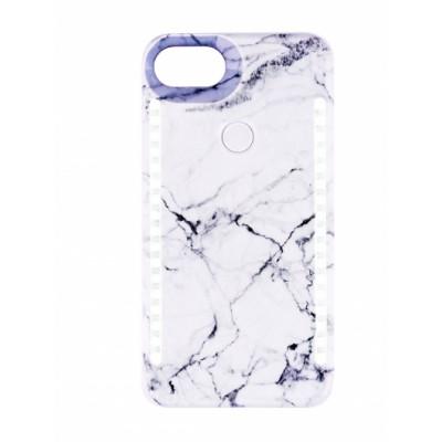 BasicsMobile Selfie Cover White Marble iPhone 7/8 iPhone 7/8