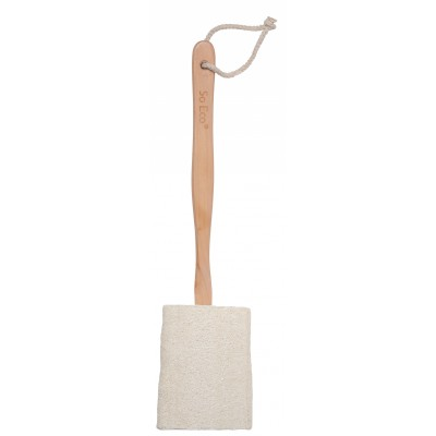 So Eco Flat Loofah With Wooden Handle 1 pcs