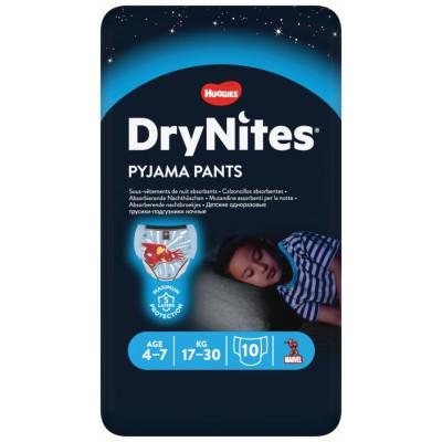 DryNites Pyjamahousut yökasteluun pojille 4-7 vuotta 10 kpl