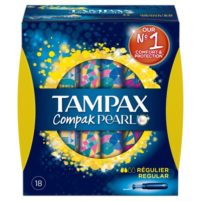 Tampax Compak Pearl Regular 18 pcs