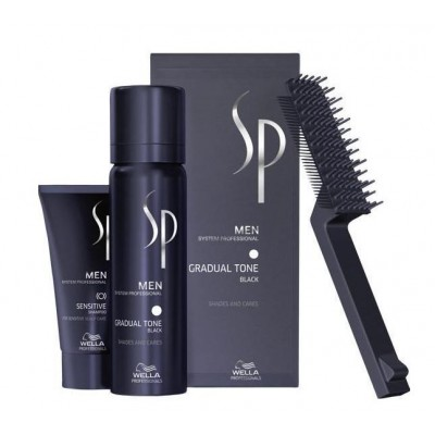Wella Men Gradual Tone Black Set 60 ml + 30 ml + 1 stk