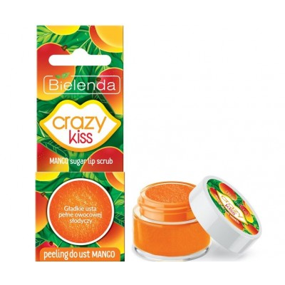 Bielenda Crazy Kiss Mango Sugar Lip Scrub 15 g