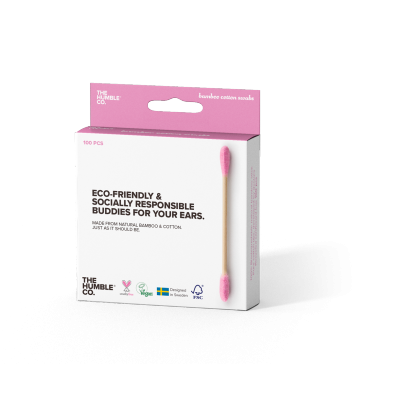 The Humble Co. Eco-Friendly Bamboo Cotton Buds Pink 100 stk