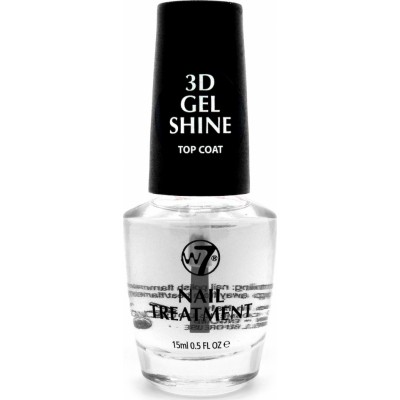 W7 3D Gel Shine Top Coat 15 ml