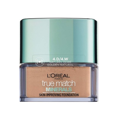 L'Oreal True Match Minerals Skin-Improving Foundation 4D/4W Golden Natural 10 g