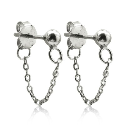 Everneed Saseline Chain Earrings Silver 2 st