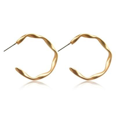 Everneed Maya My Twist Hoop Earrings Gold 2 cm