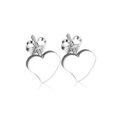 Everneed Kaley Heart Örhängen Silver 1 cm
