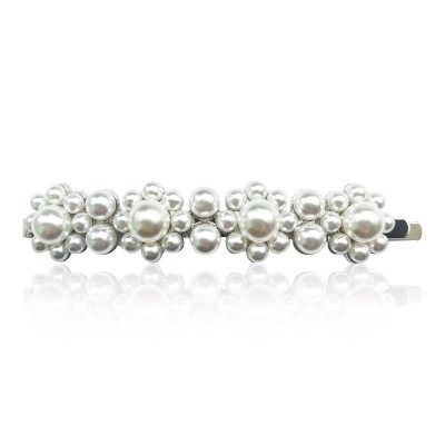 Everneed Everneed Pretty Candycade Pearl Hair Clip Silver Finish 1 kpl 1 kpl