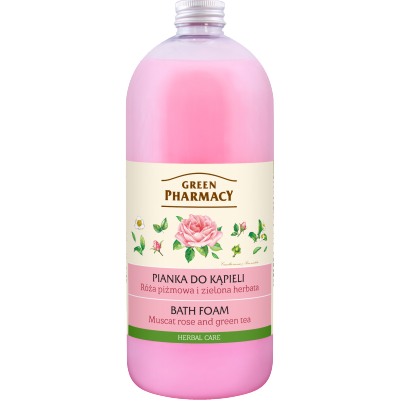Green Pharmacy Muscat Rose & Green Tea Bath Foam 1000 ml